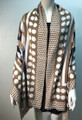 New ! Large Soft  Polka Dot Cashmere Feel Scarf  Taupe # 967-1