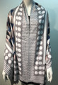 New ! Large Soft  Polka Dot Cashmere Feel Scarf  Gray # 967-2