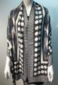 New ! Large Soft  Polka Dot Cashmere Feel Scarf  Black # 967-4