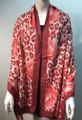 New ! Large Soft  Leopard Cashmere Feel Scarf  Burgundy # 968-2