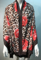 New ! Large Soft  Leopard Cashmere Feel Scarf  Coffee # 968-4
