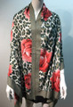New ! Large Soft  Leopard Cashmere Feel Scarf  Green # 968-5