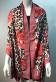 New ! Large Soft  Leopard Cashmere Feel Scarf  Pink  # 968-6