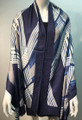 New ! Large Soft  Cashmere Feel Scarf  Navy # 970-4