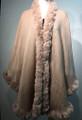 New! Elegant Women's - Faux Fur  Poncho Cape Pink # P220-6