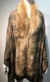 New! Elegant Women's - Faux Fur  Poncho  shawl  Khaki # P224-3