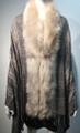 New! Elegant Women's - Faux Fur  Poncho  shawl  Beige # P224-4