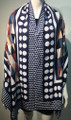 New ! Large Soft  Polka Dot Cashmere Feel Scarf  Blue # 967-5