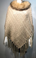 New ! Ladies' Stylish  Poncho Beige # P053F-2