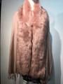 New! Elegant Women's - Faux Fur  Poncho  shawl  Pink # F225-2