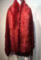 New! Elegant Women's - Faux Fur  Poncho  shawl  Red # F225-3