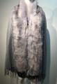 New! Elegant Women's - Faux Fur  Poncho  shawl  Gray # F 225-6