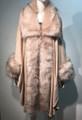 Elegant Women's - Faux Fur  Poncho Cape Pink # P200-7