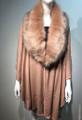Elegant Women's - Faux Fur  Poncho Cape  Pink # P204-8