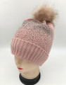 New! Fashion  Hats with Fur Ball Assorted Dozen #H1243
