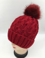 New! Fashion  Hats with Fur Ball Assorted Dozen #H1255