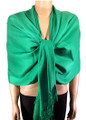 Pashmina Solid Forest Green #2-13