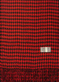 Cashmere Feel Houndstooth Scarves Red / Black K 72-4