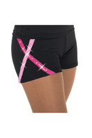 Jerryskate 456 X-Bling Figure Skating Shorts - Pink