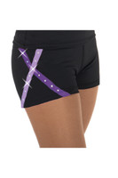 Jerryskate 456 X-Bling Figure Skating Shorts - Purple