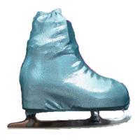 Metalic Figure Skating Boot Covers by Kami-So - Metallic Turquoise
