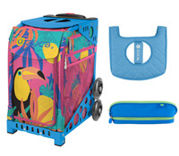Zuca Sport Bag - Toucan Dream with Gift Seat Cover and Pencil Case