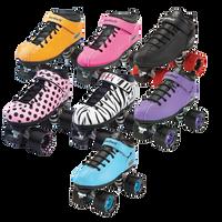 Riedell Quad Roller Skates - Dart- Zebra, Solid Colors