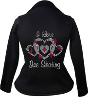 Kami-So Polartec Ice Skating Peplum Design Jacket - I Love Skating