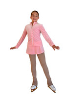 ChloeNoel JV01 Velvet with Crystals Front Jacket (Pink)