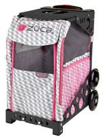 Zuca Pet Carrier - Houndstooth Pink