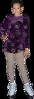 ChloeNoel DLV675 Firework/Eggplant - Sparkle A-line Velvet Dress w/ Mesh