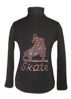 "Black Jacket with ""Skate"" applique"