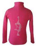 "Pink Ice Skating Jacket with ""Lay Back"" applique"