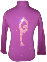 "Purple Figure skating jacket with ""Biellmann"" applique"