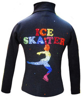 Ice Skating Jacket with Rainbow Ice Skater Design