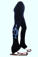 """Polartec  Ice Skating Pants with blue crystals """"Layback"""" applique"""
