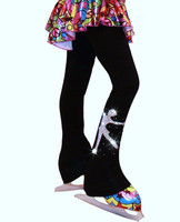"Polar fleece Ice Skating Pants with ""Skating Girl"" applique"