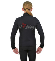 ChloeNoel J11 X Solid Polar Fleece Fitted Jacket - I Love Skating 2