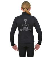 ChloeNoel J11 X Solid Polar Fleece Fitted Jacket - Peace Love Skate 2