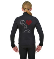 ChloeNoel J11 X Solid Polar Fleece Fitted Jacket - Peace Love Skate 3
