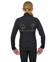 ChloeNoel J11 X Solid Polar Fleece Fitted Jacket - Peace Love Ice Skate