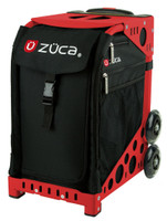 Zuca Sport Bag - OBSIDIAN with Red Frame