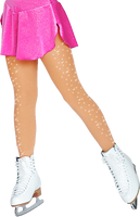 ChloeNoel Footed Ice Skating Tights 8830 with 2Crystals