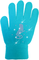 ChloeNoel Ice Skating Gloves - GV22-TQ/Skate Crystals