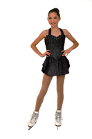 ChloeNoel DSV56 Sleeveless Halter Sparkle Dress (Sparkle Black)