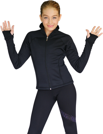 ChloeNoel JT92 Raglan Sleeves Fitted Jacket with Pockets & Thumb Holes