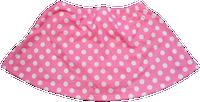 ChloeNoel K01 Aline Skate Skirt FUCHSIA DOT (ADULT SMALL)