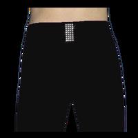 ChloeNoel PS711 Solid Color Skinny Yoga Off Ice Elite Pants w/ Front Pocket and Swarovski Crystal Block