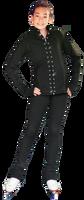 ChloeNoel JS792 Color Contrast Elite Jacket w/ Pockets & Thumb Holes & Swarovski Crystal Design
