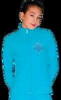 ChloeNoel JT811 Solid  Fleece Fitted  Elite Jacket w/  Blue Ribbon Crystals Combination